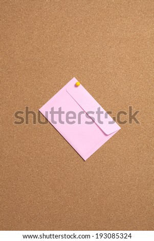 An image of Envelopes pinned Push the cork board