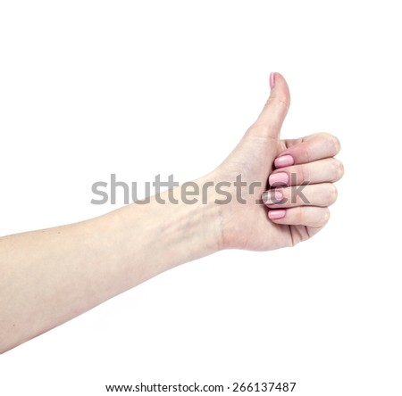 an image of Female hands isolated on white background