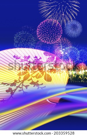 An Image of Fireworks And Fan