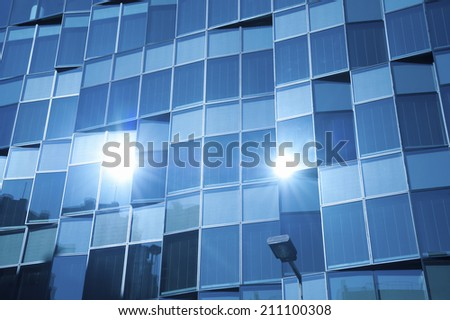 An Image of Glass Building - stock photo