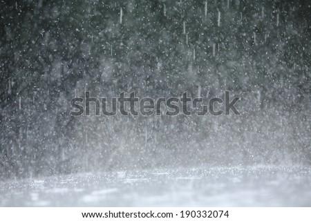 An image of Guerrilla heavy rain - stock photo