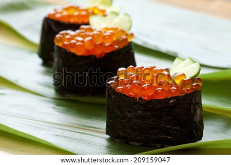An Image of Hand-Rolled Sushi