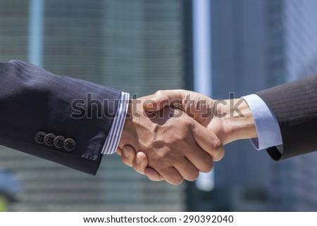 An Image of Handshake - stock photo