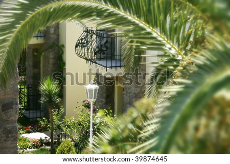 an image of house and the garden - stock photo