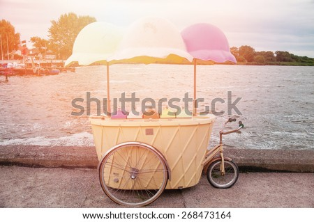 An image of ice cream vintage parlor - stock photo