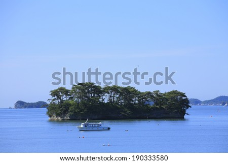 An image of Islands in Japan - stock photo