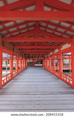 An Image of Itsukushima Shinto Shrine - stock photo
