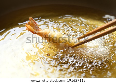 An image of Making tempura - stock photo