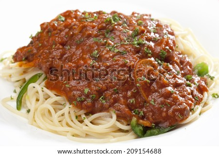 An Image of Meat Spaghetti