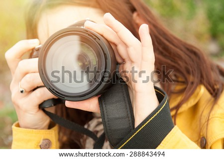 An image of nature photographer takes pictures