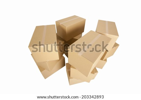An Image of Piled Up Cardboard