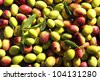 an image of ripe olives in process - stock photo