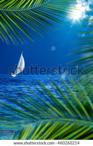 an image of sailing boat  - stock photo