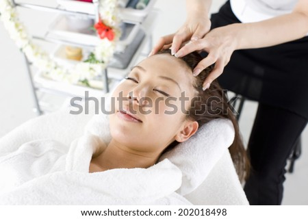 An Image of Scalp Massage