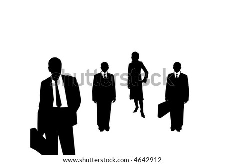 An image of silhouette of people in office