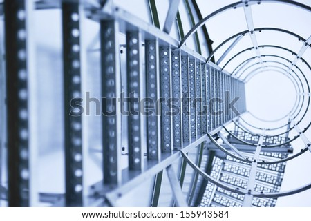 an image of silo for grain - stock photo