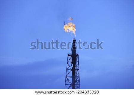 An Image of Smoke Chimney - stock photo