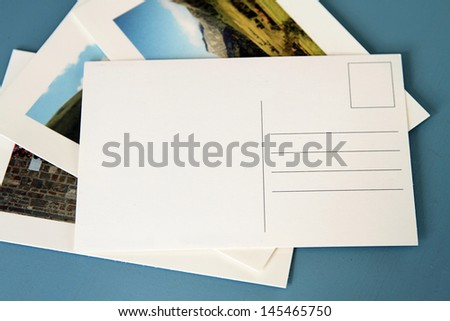 An image of some blank postcards - stock photo