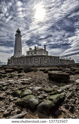 An image of St Mary`s lighthouse in Whitley Bay.