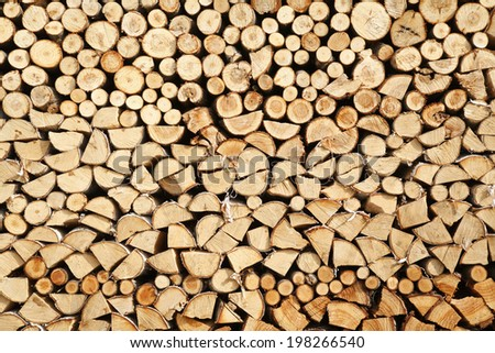 An Image of Stacked Firewood