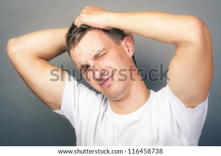 an image of stressed man