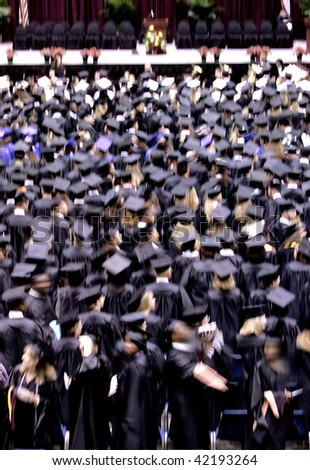 an image of students at graduation ceremony - stock photo