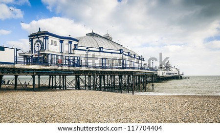An image of the beautiful brighton pier - stock photo