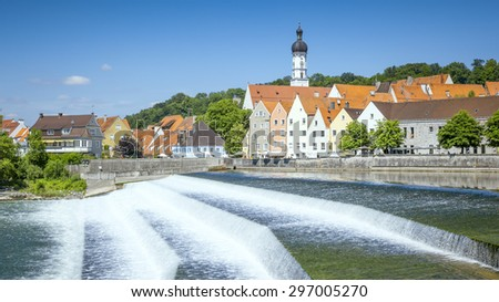 An image of the beautiful Landsberg am Lech at Bavaria Germany - stock photo
