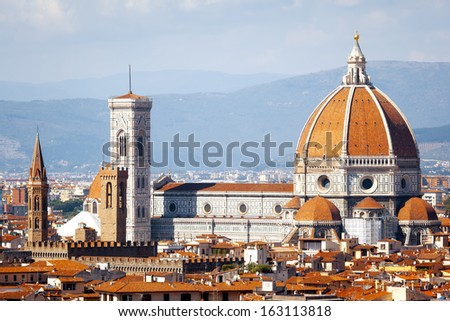 An image of the Duomo in Florence Italy - stock photo