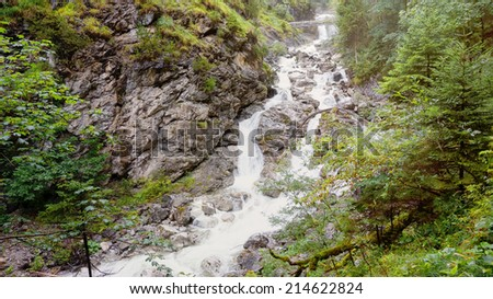 An image of the Kuhfluchtfaelle near Farchant Bavaria Germany - stock photo