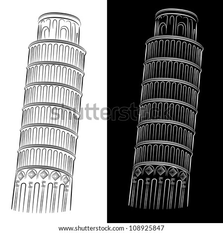 An image of the leaning tower of Pisa.
