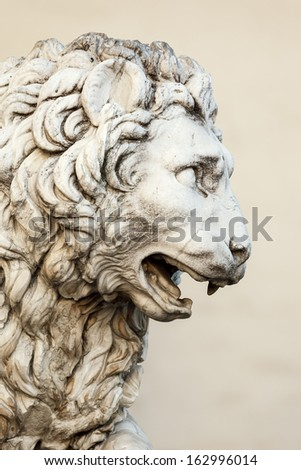 An image of the Lion Sculpture at Palazzo Vecchio in Florence
