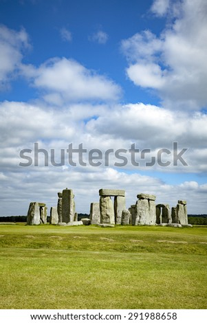 An image of the Stonehenge in England - stock photo