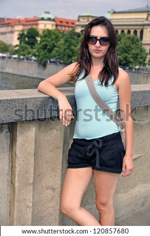 An image of tourist in Prague City