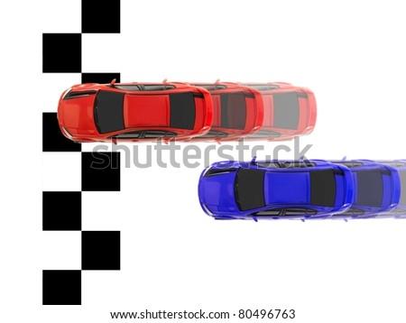 An image of toy slot car racing - stock photo