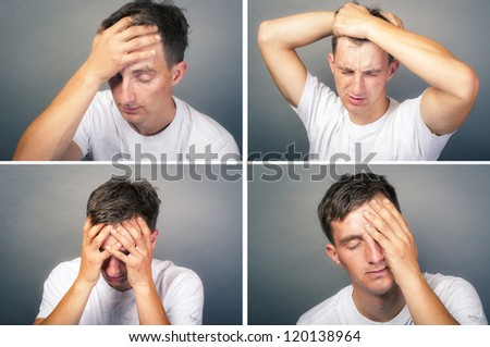 an image of upset young man - stock photo