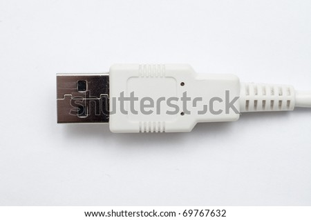 an image of usb data cable - stock photo