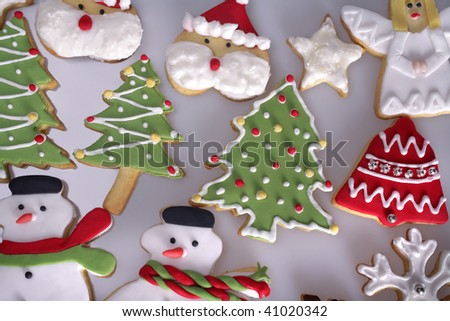 an image of variety of Christmas cookies