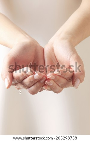 An Image of Water And Hand