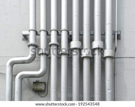 An image of Water pipe of the building wall