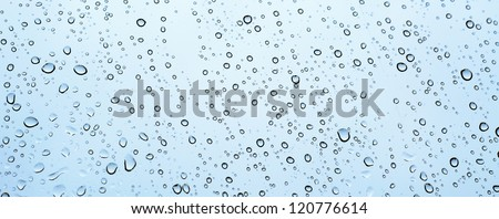 An image of waterdrops on window