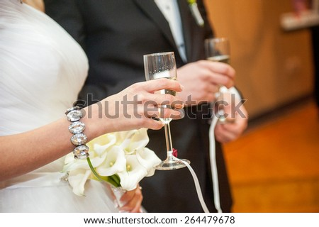 an image of wedding dance of bride and groom - stock photo