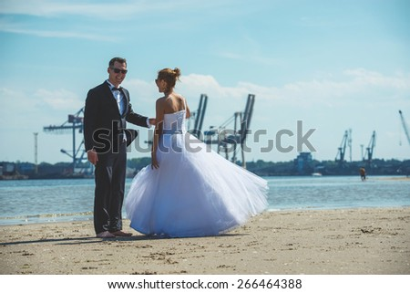 an image of wedding session on the beach