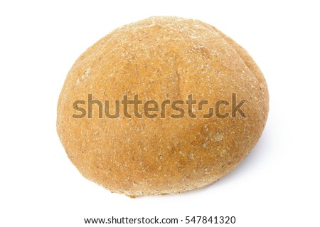 An image of white bread on white background