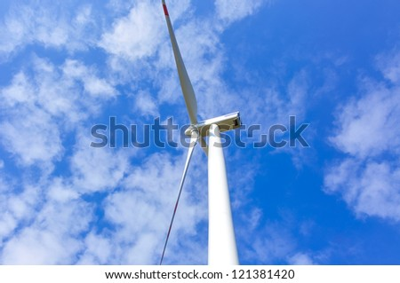 An image of wind farm - stock photo