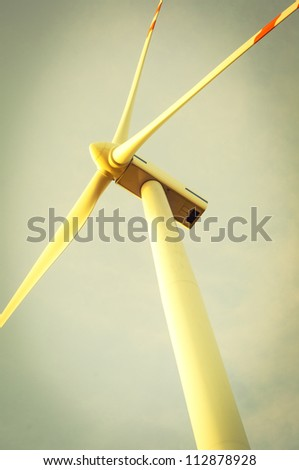An image of windturbine of suny day - stock photo