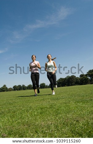 An image of Women jogging in park