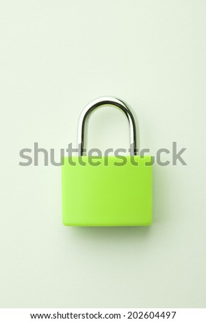 An Image of Yellow-Green Padlock