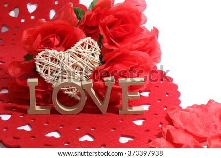 An image showing the concept of Valentines day with love and roses / Heart of love and roses