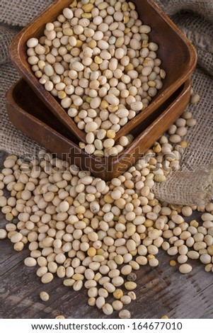 an important part of a healthy food, soy on the table - stock photo